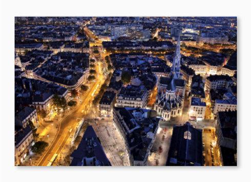 La basilique Saint-Nicolas à Nantes vue de la tour Bretagne