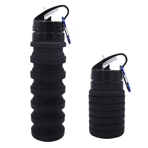 550ML Sample Free Private Label Silicone Foldable Sport WaterBottle