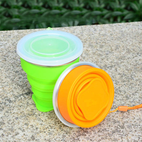 200ML Eco-frendly Reusable Custom Collapsible Travel Silicone Foldable Cup