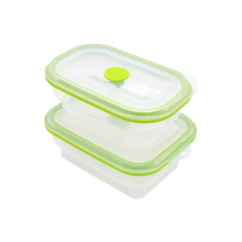 Silicone Foldable Storage Leakproof Food Box Portable Collapsible Fruit Containe