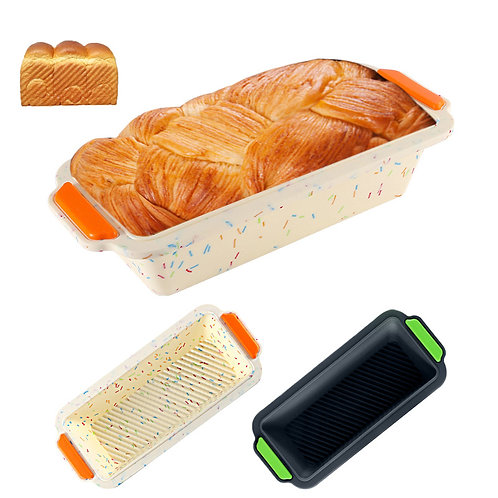 Factory wholesale Silicone two-color toast bread mold cake mold