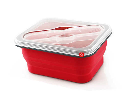 600ml BPA Free Silicone Collapsible Lunch Box
