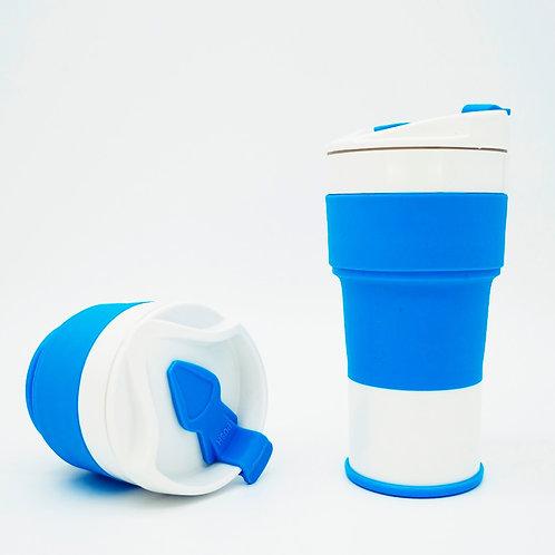 Wholesale Custom Foldable Silicone Travel Coffee Mug With Lid
