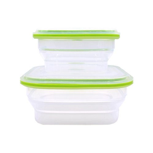 fresh fruit storaged microwave safe silicone collapsable lun food Container