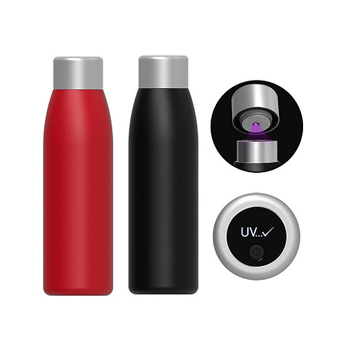 2020 New Stainless steel Thermos UV light Ultraviolet sterilizi water bottle