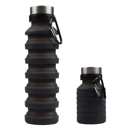 550ML Expandable Travel Fashion Collapsible Silicone Foldable Water Bottle