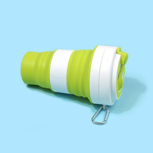 Bpa Free 550ml Folding Travel Car Silicone Collapsible Flexible Coffee Mug