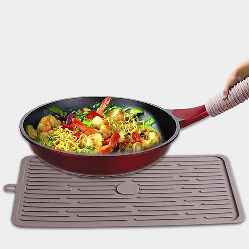 dishes dry rack mats sinks protector pad silicone dish drying mat