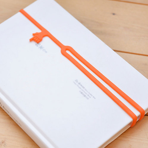 Factory WholesaleFinger Shape Elastic Custom Logo Silicone Bookmark for student
