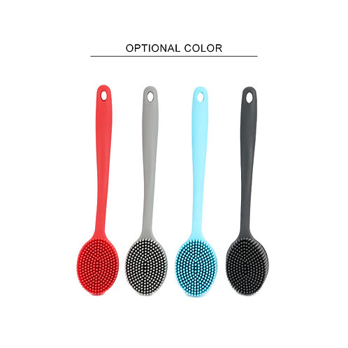Eco-friendly Long Handle Kitchen Cleaning Tooling Silicone Pot Brush