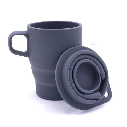350ML Wholesale BPA Free Silicone Collapsible Coffee Mug With Custom LOGO