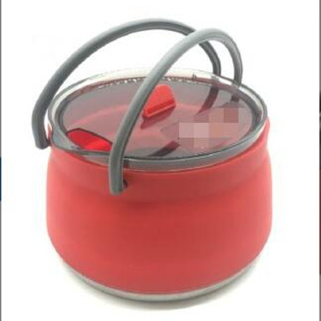 Portable Outdoor Camping collapsible Silicone Mini Folding Cooking Sauce Pot