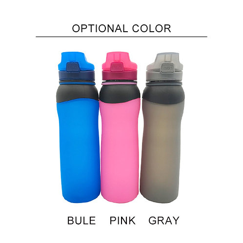 Newest silicone collapsible outdoor sports water folding bottle manufacturers