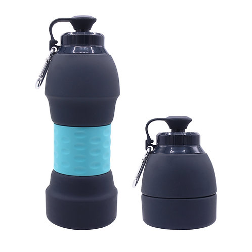 580ML Custom Collapsible Silicone Water Bottle For Sports