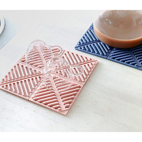 Heat Resistant Silicone Trivets Mat for Hot Dishes
