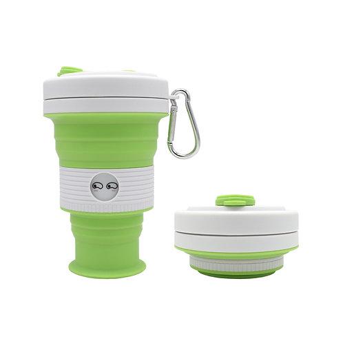 spill proof portable large espresso silicone sleeve folding drinking tea mug