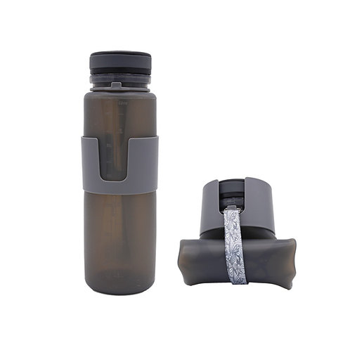 500ML Eco-friendly Collapsible Silicone Sport Drinking Travel Water Bottle