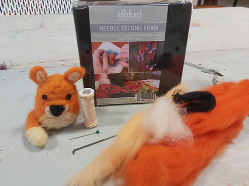 Fox Needle Felting Kit-  X MAS ornament