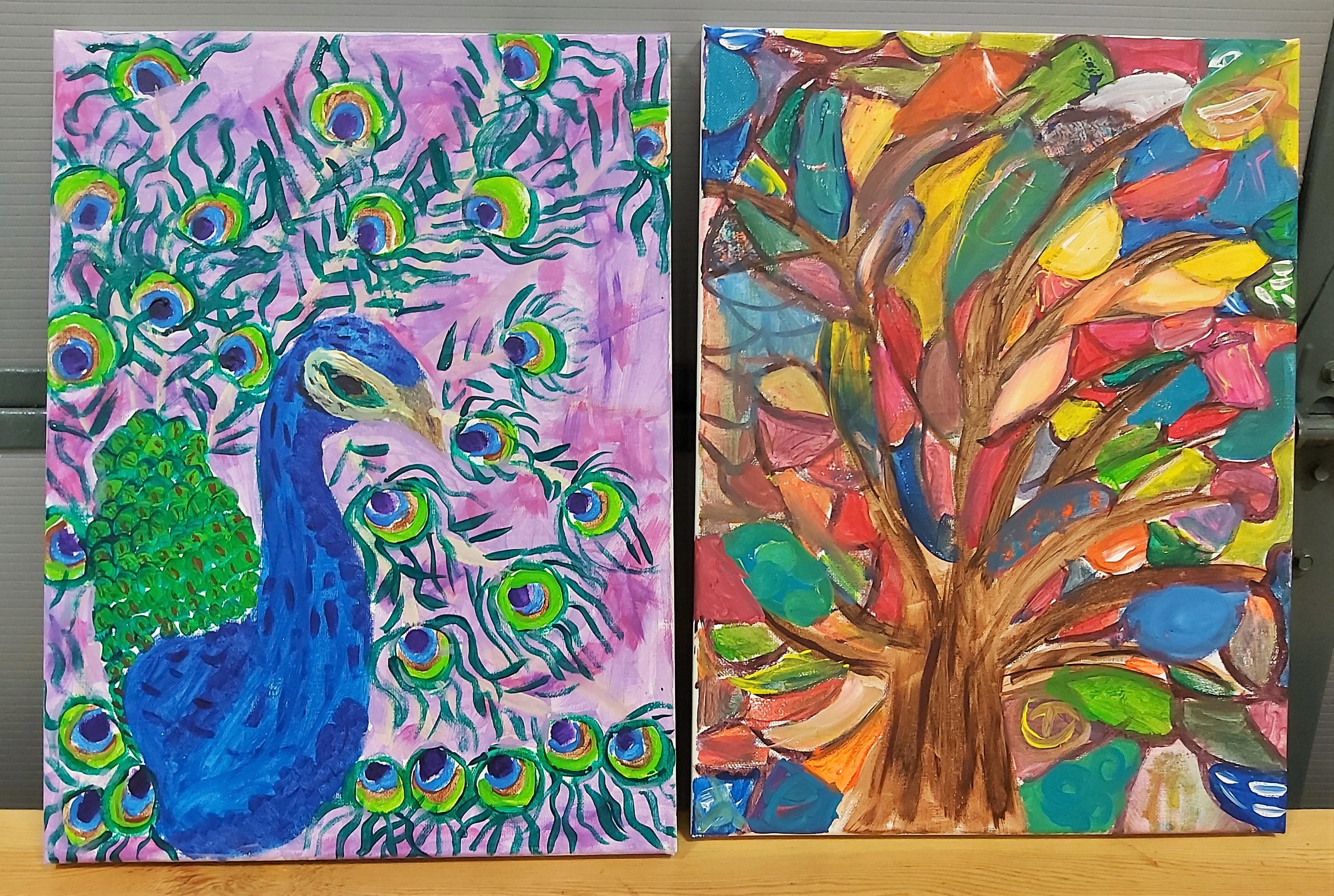 Painting, Drawing, Needle Felting Series
