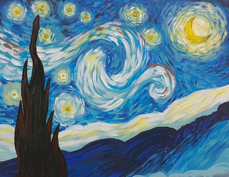Van Gogh Acrylic Painting Series