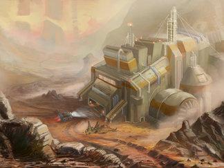 Атмосферный скетч завода