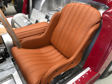 Leather race seats