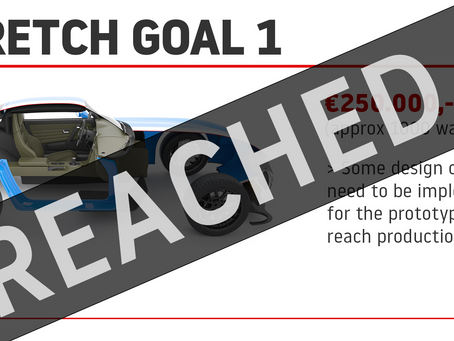 1st Stretch Goal Reached