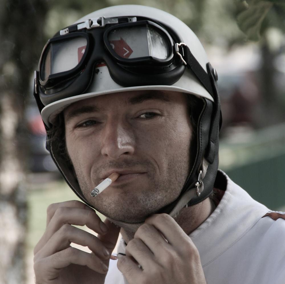 Tino Huet with Mille MIglia Helmet