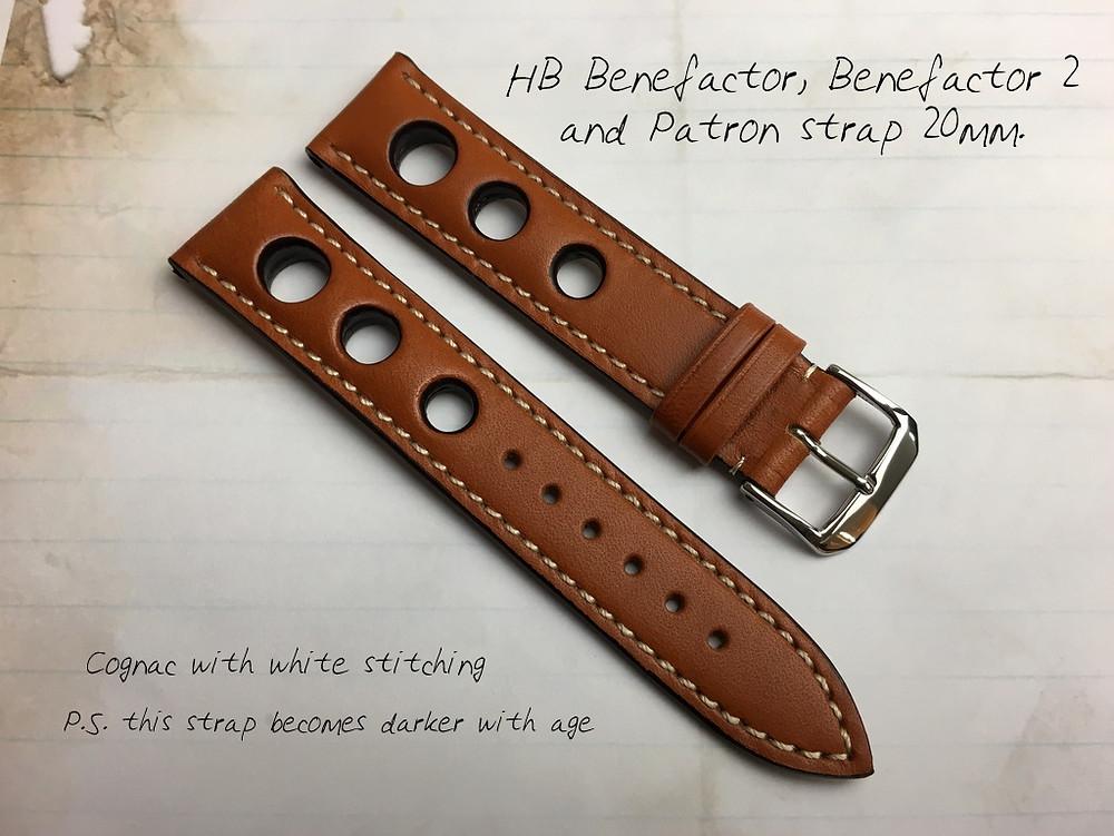 HB watches cognac straps