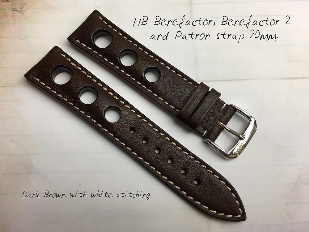 HB Watches dark brown strap