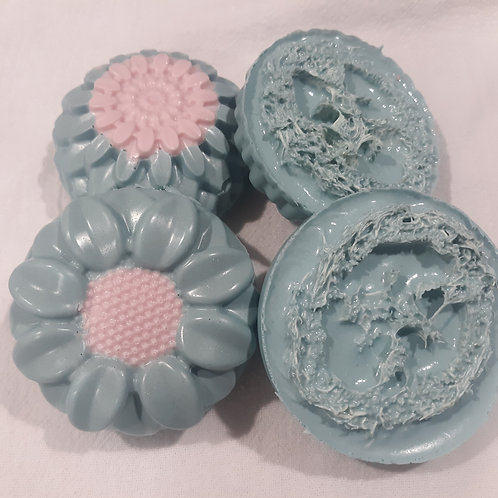 Loofah Peppermint and Tea Tree Oil Foot  Scrub Bar.  Comes Ground or Whole