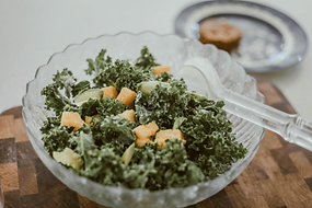 Kale and Mango Salad with Lime Dressing.