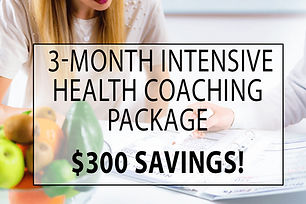 3-Month Intensive Health Coaching Packag