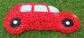 2D Red Car