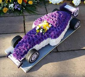 3D F1 Car Purple