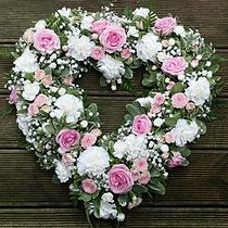 Funeral Flowers Heart Wreath