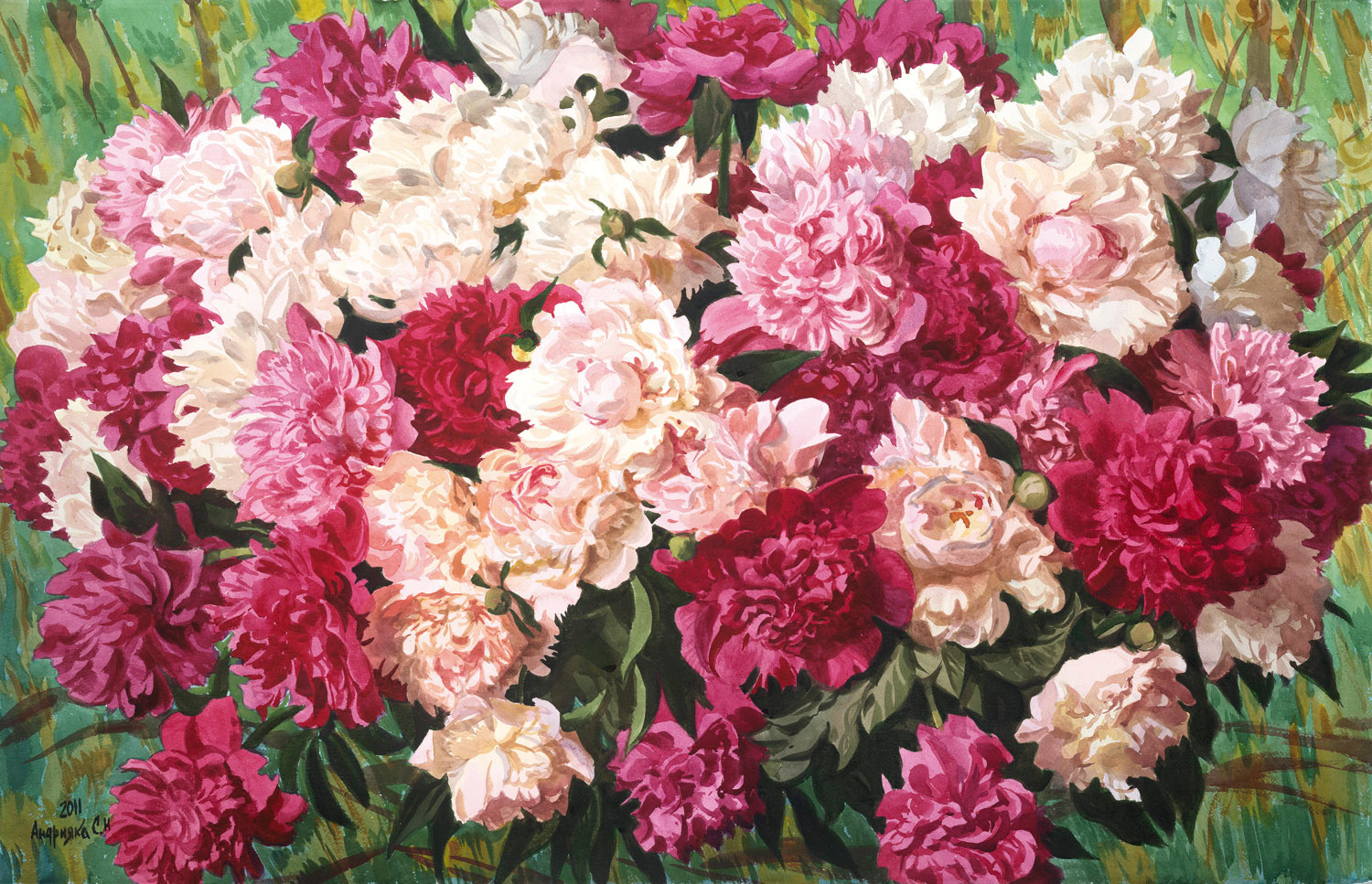 The Charming scent of peonies, 2011