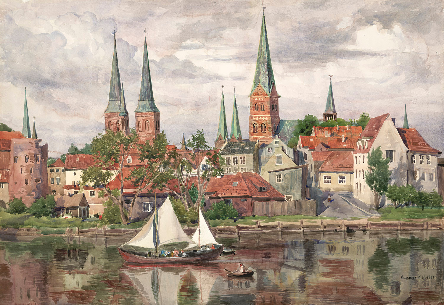 The town of Lübeck, 1991