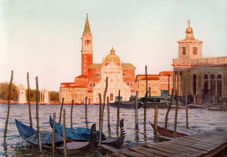 Venice. Gondolas at the berth, 2009