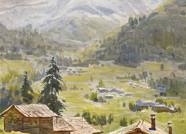 A valley in Lausanne (Switzerland), 1995