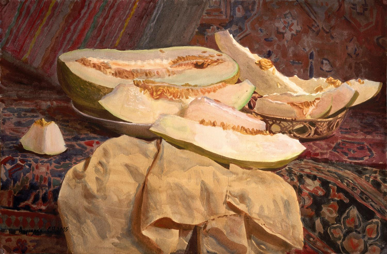 Still life of a melon, 2005