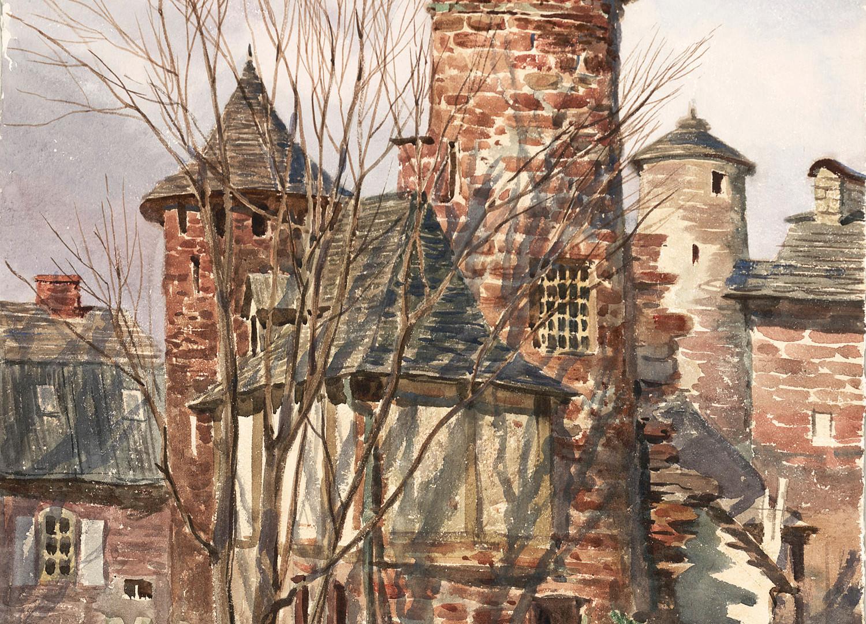 A castle in Collonges-la-Rouge, France, 1994