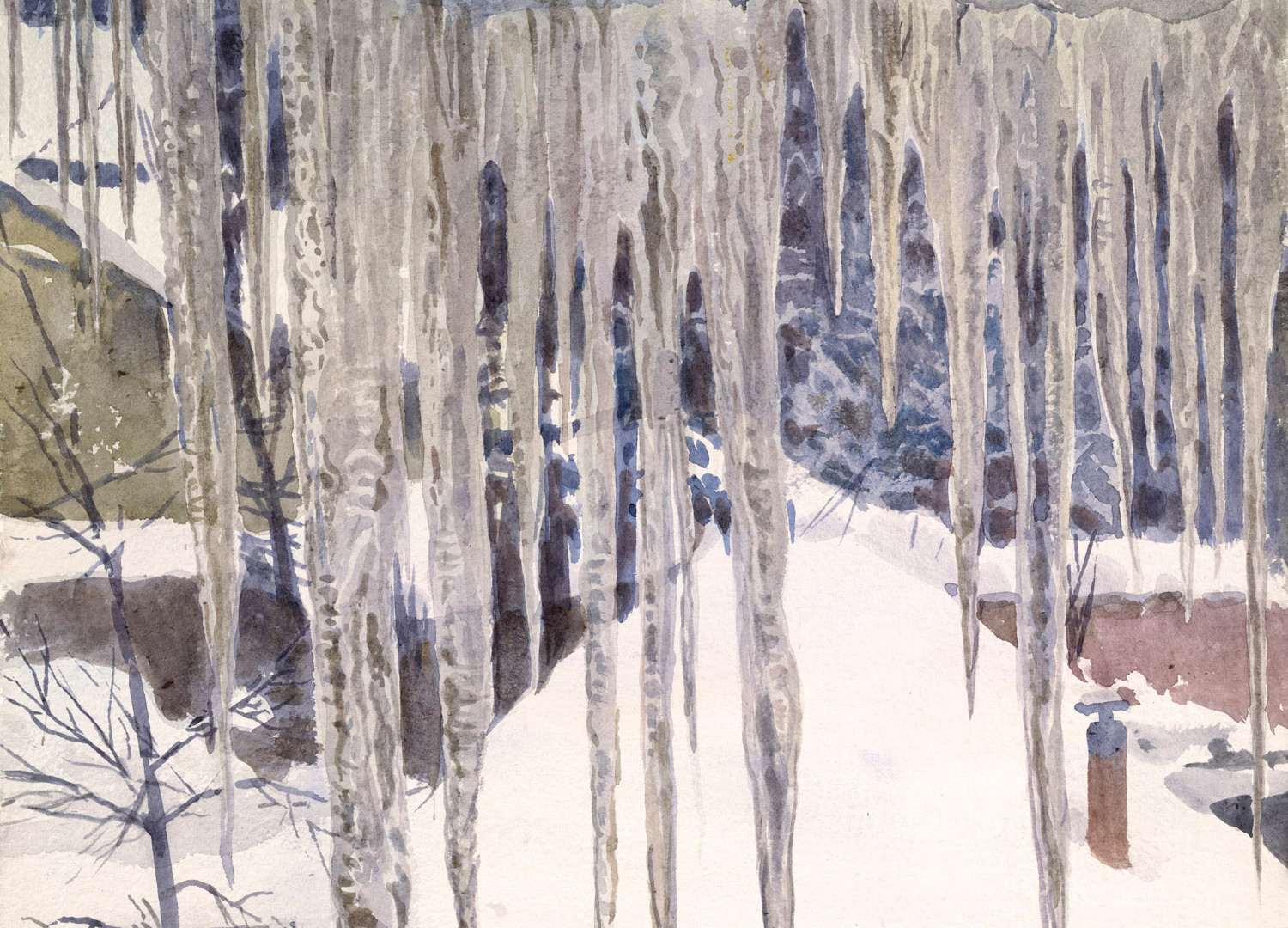 The thaw. Icicles, 2010