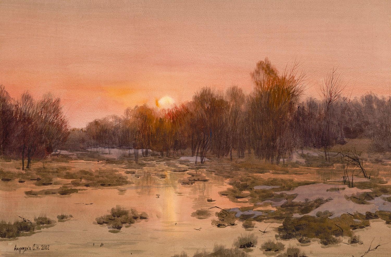 Spring sunset, 2002