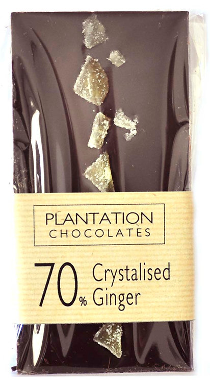 70% Dark Chocolate & Crystallised Ginger