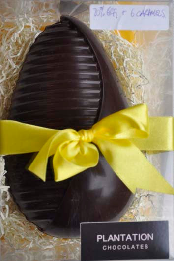 Easter Egg 70% Chocolate.  For collection only.