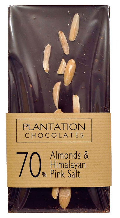 70% Dark Chocolate & Almonds & Himalayan Pink Salt