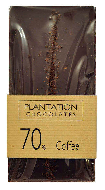 70% Dark Chocolate & Coffee Nibs
