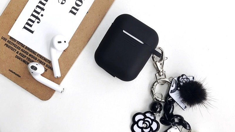 Elegant Black AirPod Case