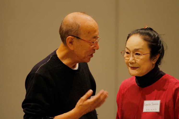 蜷川幸雄氏と女優の白石加代子さん (写真提供:東京芸術劇場)